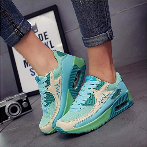 Exing Frauen Schuhe Mesh Frühjahr/Herbst Komfort Sneakers Candy Farben Damen Air-Cushion Schuhe Casual Trainer Schuhe Atmungsaktives Mesh Fashion Schuhe G