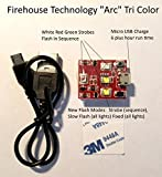 Firehouse Technology''Arc'' Tri-Color 4 Cree Strobe Light Drone Quadcopter UAS Approved FAA 107.29 DJI Inspire 1 2 Phantom Mavic Pro Air Typhoon H Yuneec Matrice Fully Self Contained No Wiring