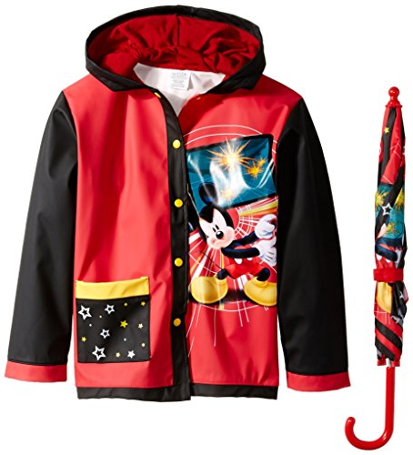 Price comparison product image Disney Little Boys' Mickey Video Game Slicker and Umbrella, Multi, Small/Medium