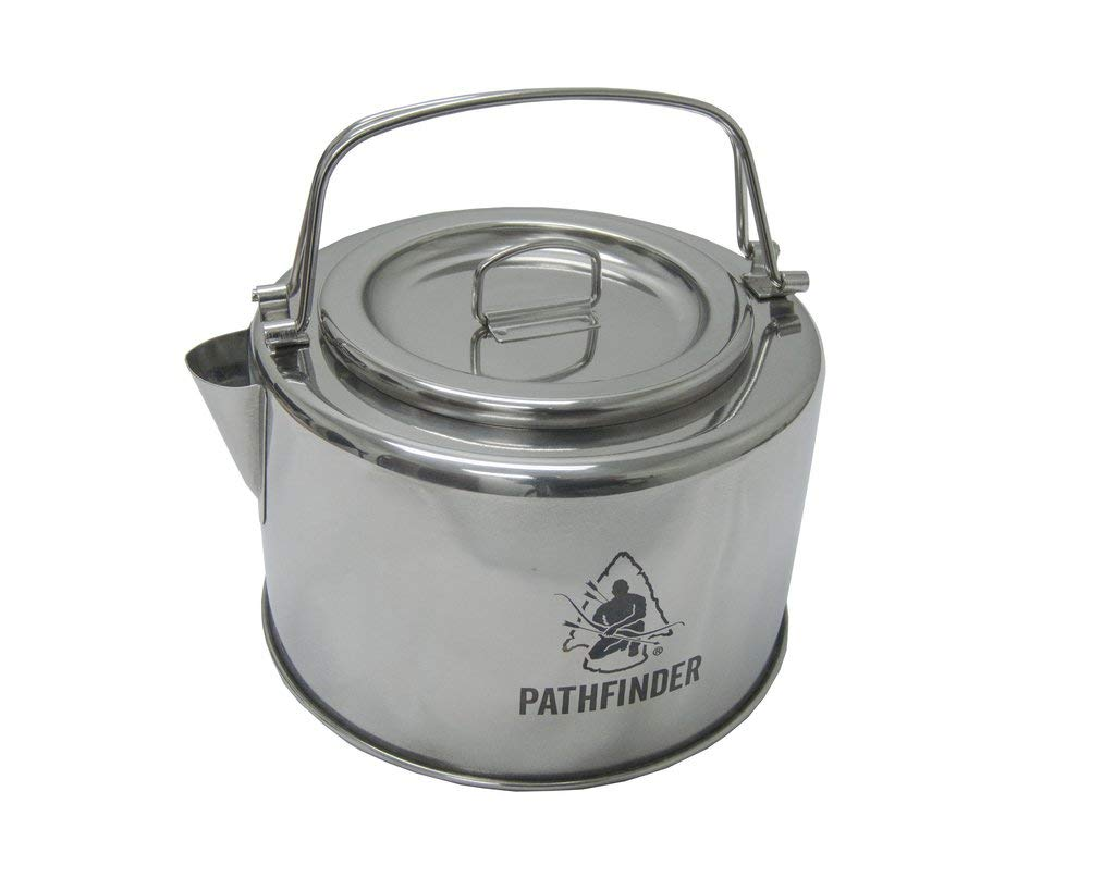 Pathfinder Stainless Steel Kettle with Filter - 1.2L by The Pathfinder School