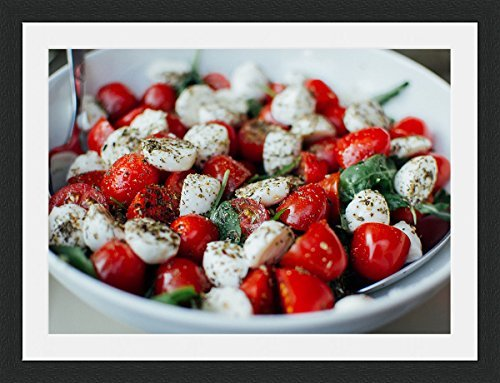 Feta Tomatoes - Tomatoes and Feta Framed Wall Art Wall Picture Frames Wall Decor Pictures for Living Room Bedroom Office 30x40 cm