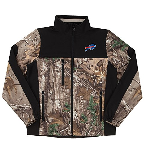 NFL Buffalo Bills Hunter Colorblocked Softshell Jacket, Real Tree Camouflage, 3X