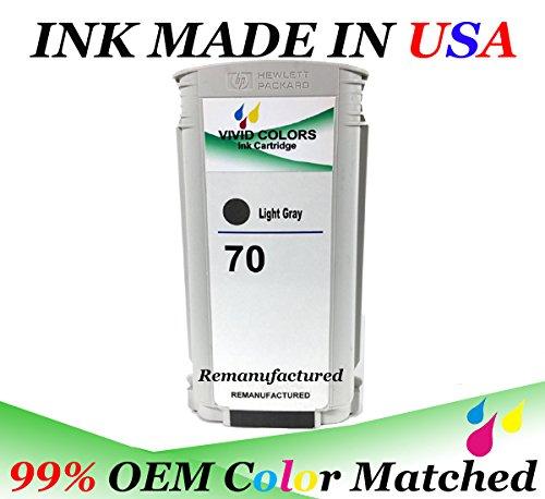 VividColors Replacement HP 70 Light Gray HP 70 C9451A Ink tank HP70 (Ink Tank Light)