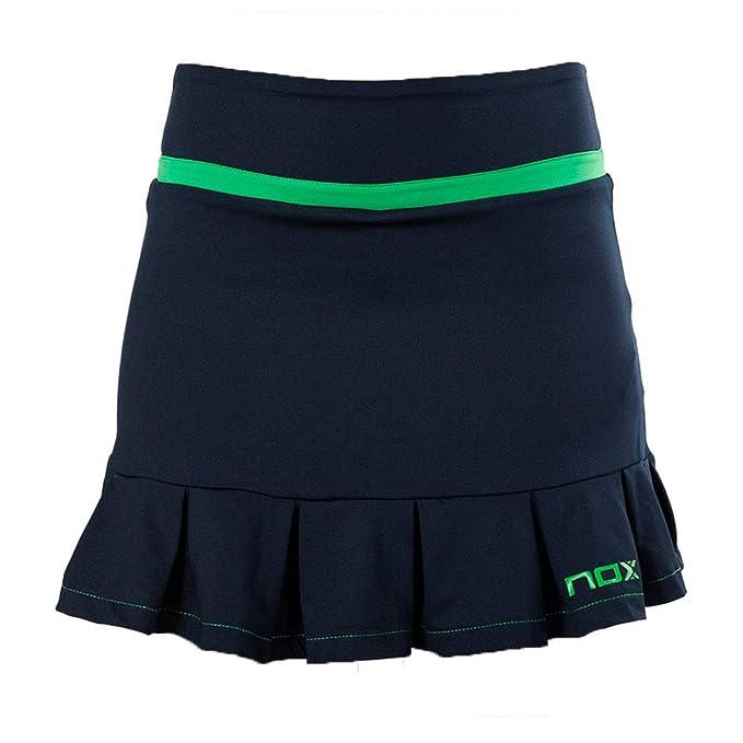 NOX Falda Pro Azul Logo Verde Mujer: Amazon.es: Deportes y aire libre