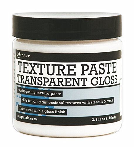 - Ranger Texture Paste Transparent Gloss, 3.9 oz