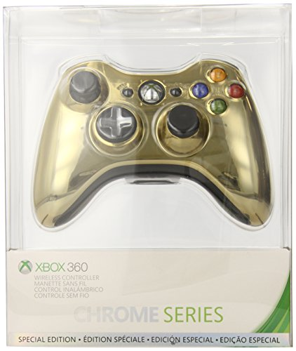 Xbox 360 Wireless Controller - Gold Chrome (Best Xbox 360 Series)