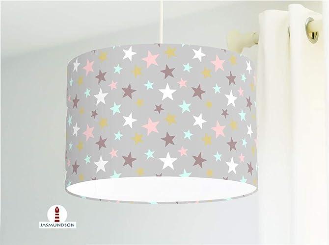 Lampe für Kinderzimmer mit Sternen aus Baumwollstoff - alle ...