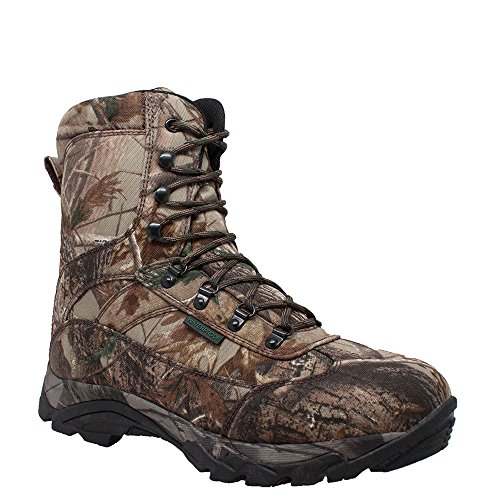 """AdTec Men's 11"""" Leather Boots: Waterproof for Hunting, Fishing, Hiking or Outdoors 600g, Camo, 11.5 M US"""