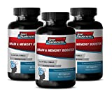 Organic Brain Booster - Brain and Memory Booster - Mind and Mental Activity Support with Brain and Memory Booster (3 Bottles 180 Capsules)