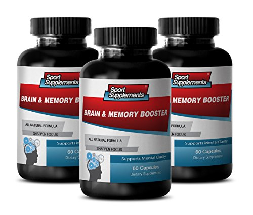 - Brain & Memory Booster Supplement, Supports and Maintains Memory (3 Bottles, 180 Capsules)