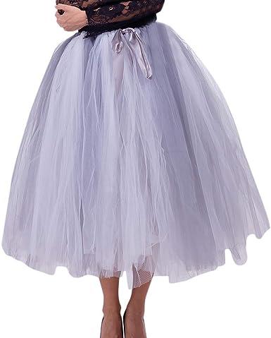 Lenfesh Mujeres Cancan 50s Rockabilly Faldas Tul Enaguas Disfraz ...