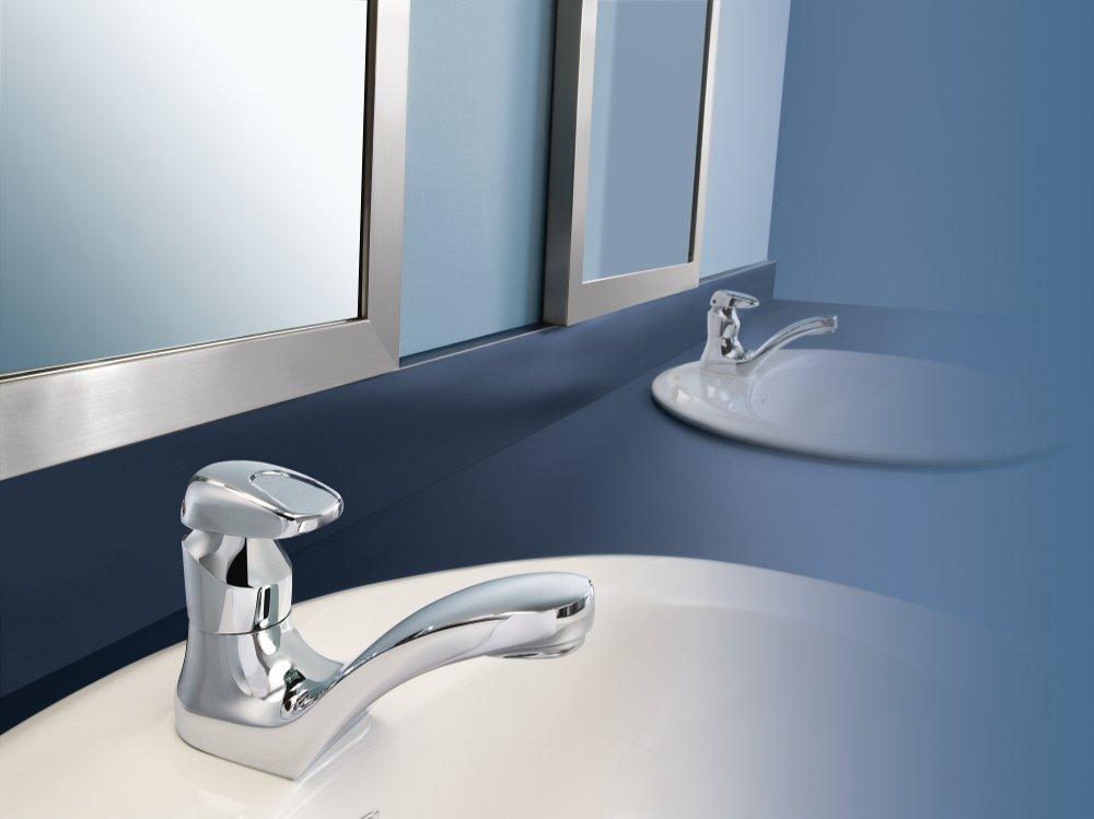 Moen 8884 Commercial M-Press Single-Mount Lavatory Faucet .5 gpm ...