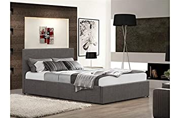 FurnitureDepot1 Istanbul Grey Fabric Ottoman Storage Bed 3ft 4ft 4ft6 5ft ( 4ft Small Double) & FurnitureDepot1 Istanbul Grey Fabric Ottoman Storage Bed 3ft 4ft ...