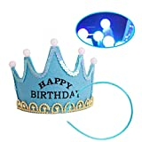GouptecLED Light Birthday Baby Kids Party Crown Hat