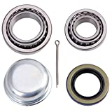 XiKe 1 Set Trailer Axle Hub Bearings Wheel Kit for Spindle 1-3/8'' to 1-1/16'' Inch, Rotary Quiet and Durable. L68149/L68111 and L44649/L44610, 171255TB Seal OD 1.719'', Dust Cover and Cotter Pin.