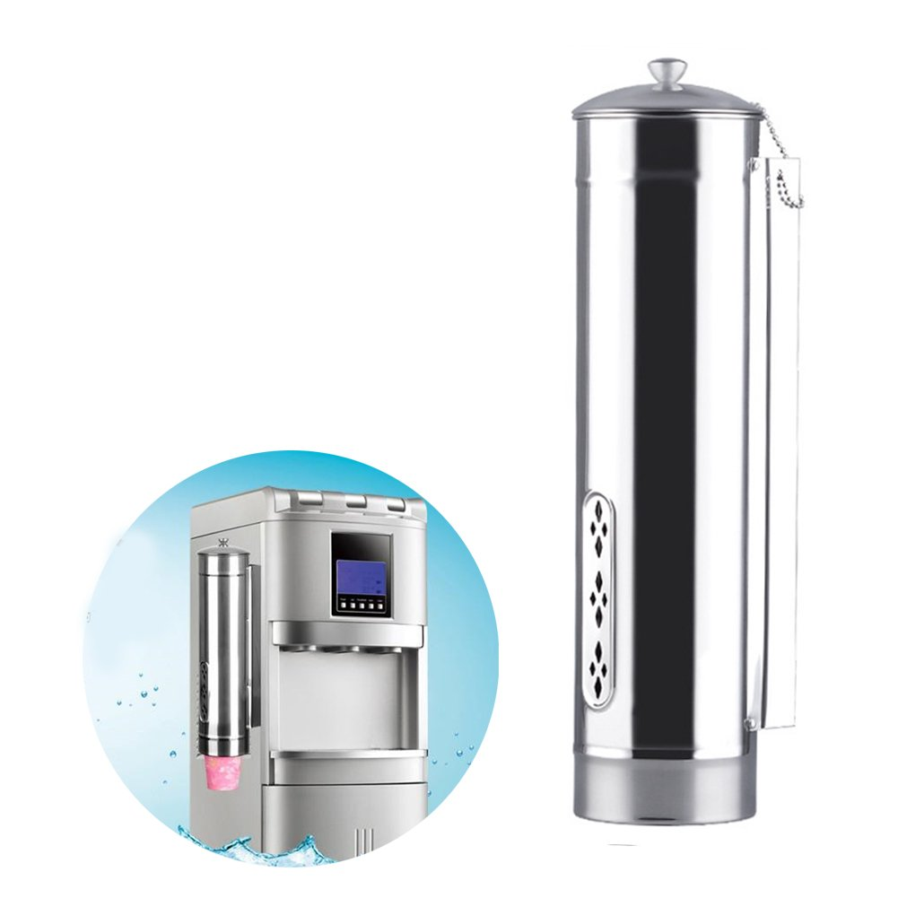 Automatic Cup Dispenser Stainless Steel Wall Mounted Pull-Type Beverage Cup Automatic Holder Safe Coffee Drink Cup Dispenser Bar Stand for Disposable Paper