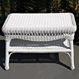 Sahara All-Weather Wicker Coffee Table White