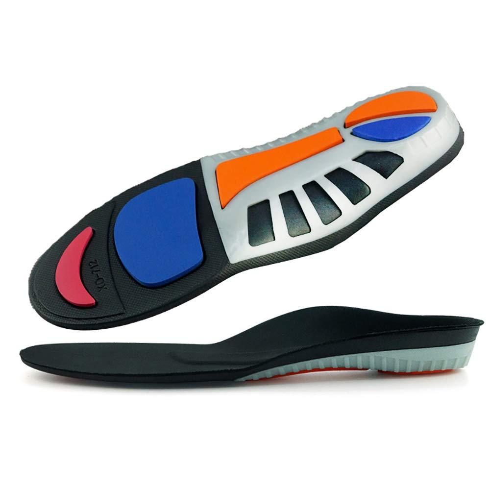 Semelle intérieure orthopédique avec soutien de la voûte plantaire pour adultes, chaussures à absorption de choc et rembourrage métatarsien