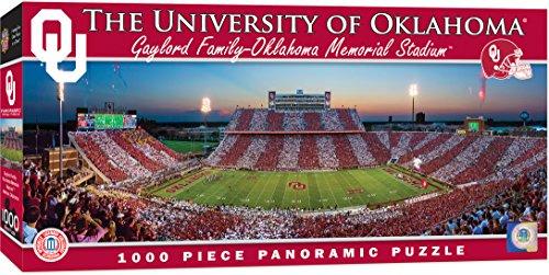 Oklahoma Sooners Collectibles - MasterPieces Collegiate Oklahoma Sooners 1000 Piece Stadium Panoramic Jigsaw Puzzle