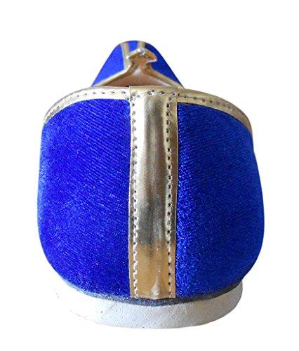 Kalra Creations - Zapatillas de estar por casa de Terciopelo para hombre Azul