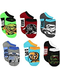 Star Wars Boys Mens 6 pack Socks (Toddler/Little Kid/Big Kid/Teen/Adult)