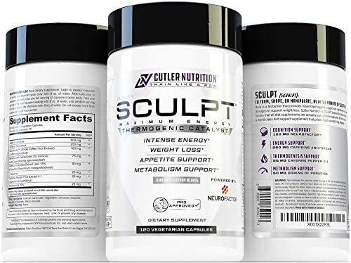 SCULPT Fat Burner Diet Pills: Best Weight Loss Energy Pills and Maximum Strength Thermogenic Metabolism Booster for Fast Weight Loss with Acetyl L Carnitine and Grains of Paradise, 120 Veggie Capsules 7