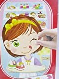 Funny Face Sweet Girl Face Stickers 1 set