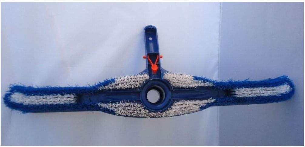 20 Pool Spa Brush//Vacuum Head Combo with Swivel Hose Cuff /& Nylon Bristles