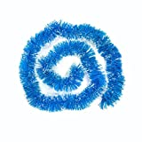 Christmas Tree Ornaments, Buedvo Party Xmas Tinsel Hanging Decoration (6.6ftx 3.9''(LXW), Blue)