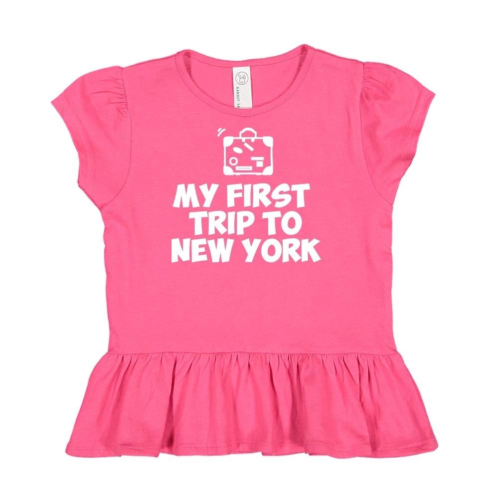 My First Trip to New York Toddler//Kids Ruffle T-Shirt