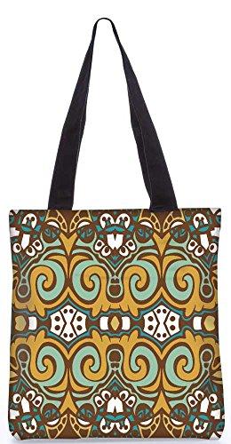 """Snoogg Abstraktes Muster Multicolor-Design Einkaufstasche 13,5 X 15 In """"Shopping-Dienstprogramm Tragetasche Aus Polyester Canvas"""