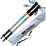 ouderstech 2-Pack Carbon Fiber Anti-shock Trekking Poles Walking Hiking Sticks - Ultralight