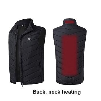 MQdlo Gilet riscaldato USB Giacca riscaldabile elettrica 5V Scaldino riscaldante per Uomo e Donna Escursionismo allaperto