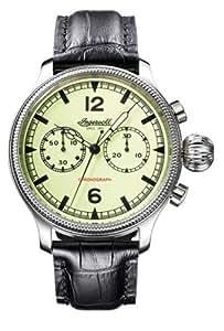 Ingersoll IN4600GR Wells Fargo - Reloj de caballero automático con correa de piel negra