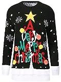 Womens Ladies Reindeers Snowflake Elf Christmas Jumper Sweater XMAS Top Plus Size UK 8-26
