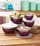 10-Pc. Purple Stainless Steel Bowl Set
