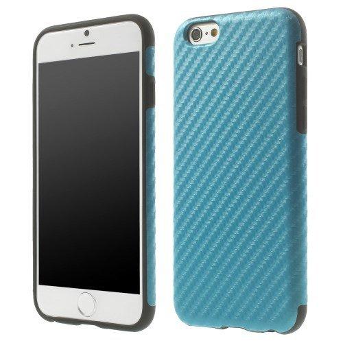 jbTec® TPU-Case / Hülle zu Apple iPhone 6 / 6s - CARBON Blau - Handy-Schutzhülle