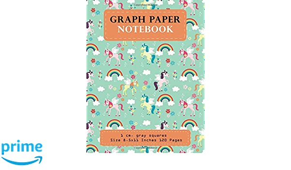 amazon com graph paper notebook 1 cm gray squares size 8 5x11