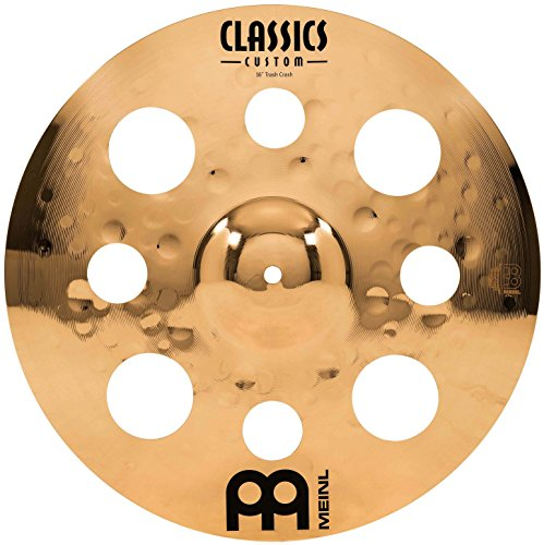 "Meinl 16"" Trash Crash Cymbal with Holes  -  Classics Custom Brilliant - Made in Germany, 2-YEAR WARRANTY (CC16TRC-B)"