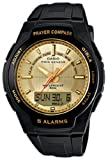 Casio Men's Core CPW500H-9AV Black Resin Quartz Watch with Gold Dial