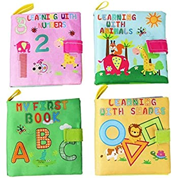 Coolplay My First Soft Book,Cloth Baby Books,Early Learning Development Toy For Babies - ABC, 123, Shapes & Animals