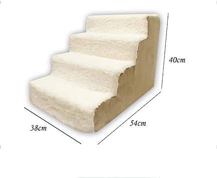 4-steps Escaleras De Mascotas,peso Escaleras Del Animal Doméstico Antideslizante Escalera De Cama Para Mascotas Rampa Para Mascotas Esponja Gatos Escaleras Respirable-b 54x38x40cm(21x15x16inch): Amazon.es: Bricolaje y herramientas