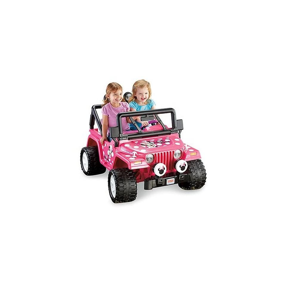 Fisher Price Power Wheels Girls Disney Minnie Mouse Jeep 12 Volt Battery Powered Ride On