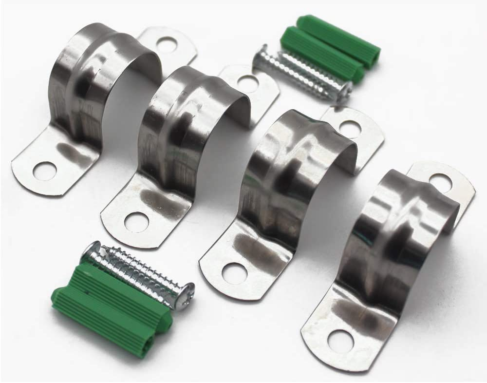 collier de serrage 4PCS collier de serrage Le collier de serrage en forme de U est utilis/é pour fixer le collier de serrage de tuyau deau 25mm Collier de serrage en acier inoxydable 304