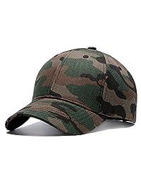 TESOON Classic Plain Baseball Cap Camo Hat Adjustable Velcro