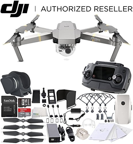 DJI Mavic Pro Platinum Collapsible Quadcopter Everything You Need Starters Bundle
