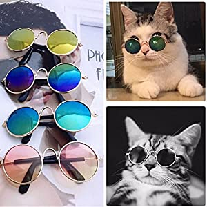 VIPASNAM-Pet Cat Dog Fashion Sunglasses UV Sun Glasses Eye Protection Wear Random Color