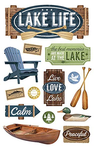 Paper House Productions Lake Life Dimensional 3D Scrapbook Stickers (1 Pack)