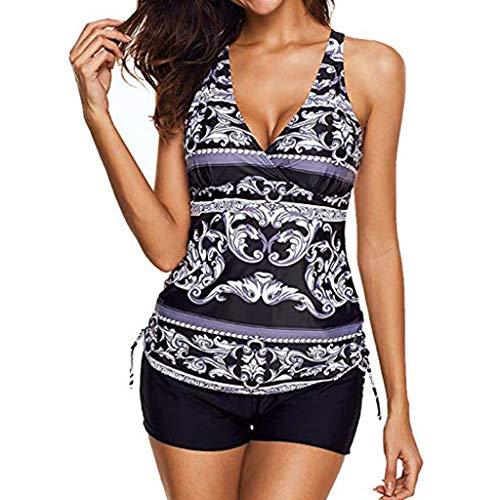 Women's Tie Side Sexy Bikini et Swimsuit Puh Up Print Swimwear Beachwear