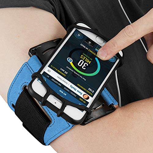 Auttumy Cellphone Holder Workout Armbands : with Key Pocket Holder & 180° Rotatable for Apple iPhone Xs Max XR X 8 7 6S Plus Samsung Galaxy S9+ S9 Edge Note 8 Google Pixel,for Outdoor Cycling Hiking